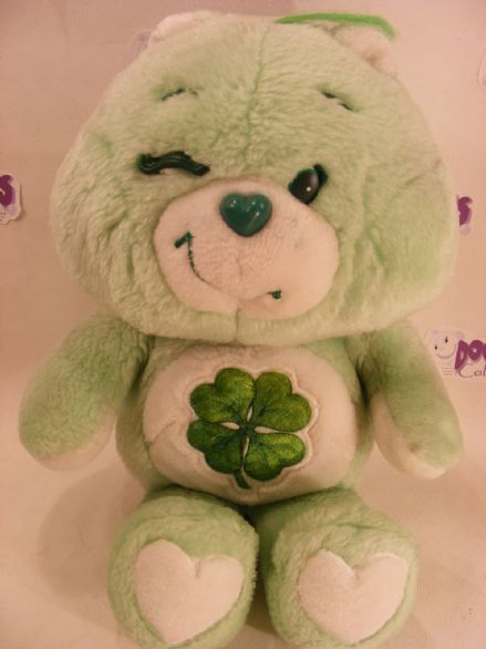 "VINTAGE 12"" GOODLUCK CAREBEAR 80S CARE BEARS"